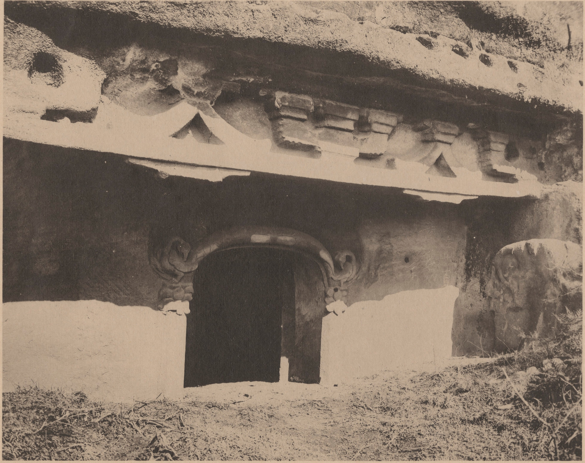 Tianlongshan historical photo Cave 1 exterior
