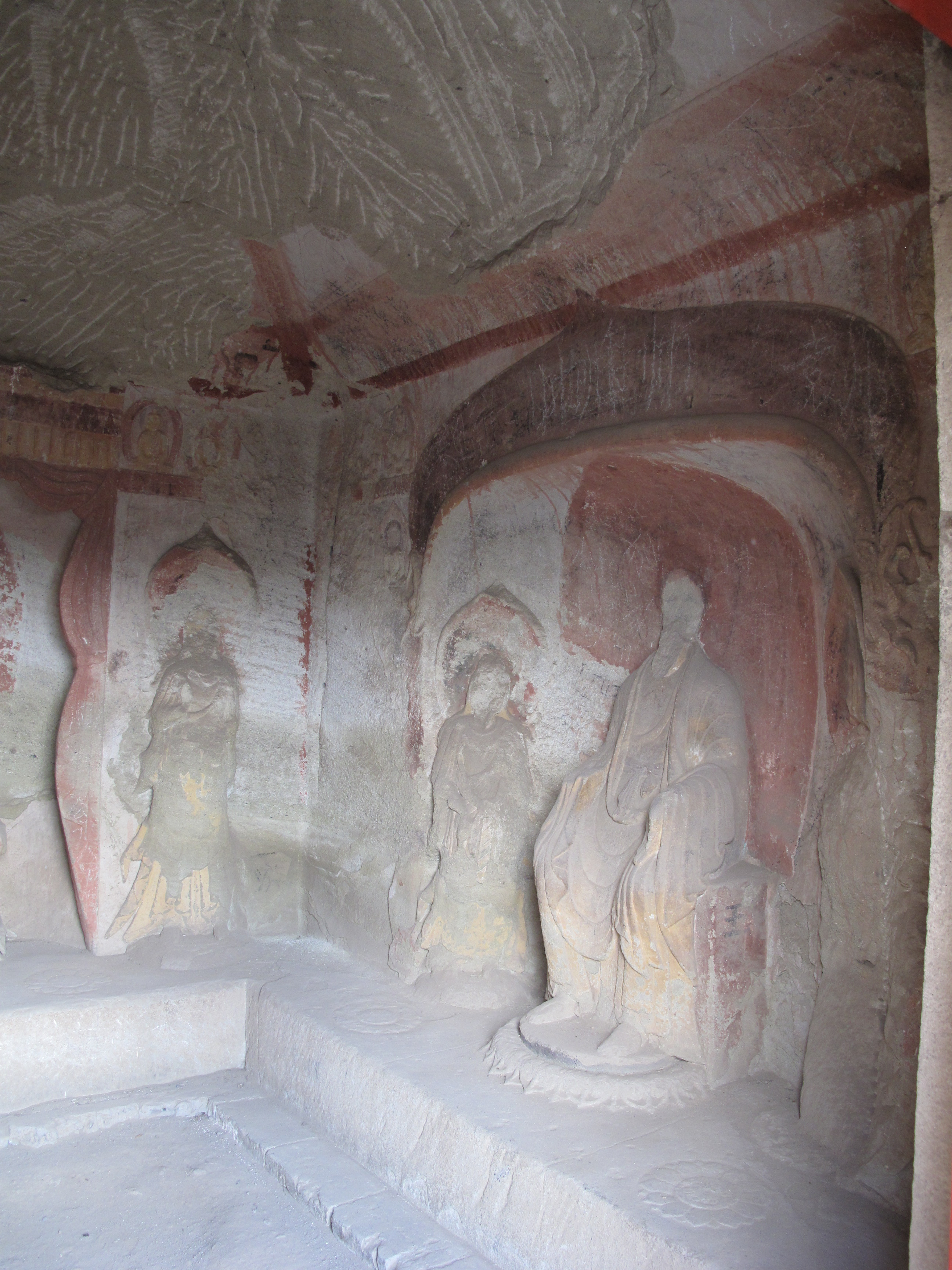 Tianlongshan Cave 2 right east wall 3