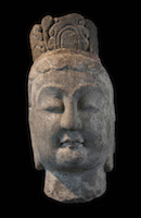 Tianlongshan Bodhisattva Head COL.S1094 perspective 2