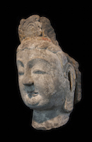Tianlongshan Bodhisattva Head COL.S1094 perspective 3
