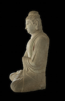 Tianlongshan Buddha Seated HAR.1943.53.22 perspective 2